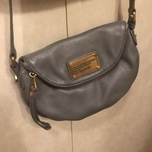 Grey leather Marc Jacobs purse
